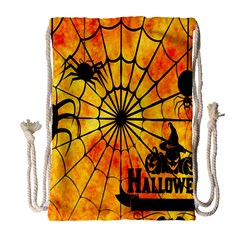 Halloween Weird  Surreal Atmosphere Drawstring Bag (large)