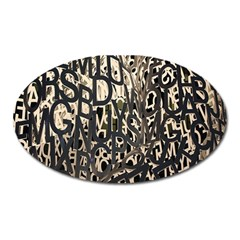 Wallpaper Texture Pattern Design Ornate Abstract Oval Magnet by Simbadda