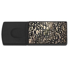 Wallpaper Texture Pattern Design Ornate Abstract Usb Flash Drive Rectangular (4 Gb)