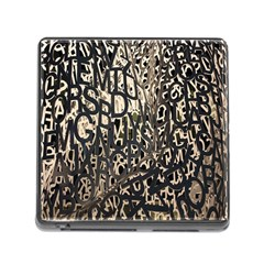 Wallpaper Texture Pattern Design Ornate Abstract Memory Card Reader (square) by Simbadda
