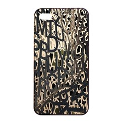 Wallpaper Texture Pattern Design Ornate Abstract Apple Iphone 4/4s Seamless Case (black) by Simbadda