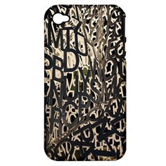 Wallpaper Texture Pattern Design Ornate Abstract Apple Iphone 4/4s Hardshell Case (pc+silicone) by Simbadda