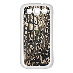Wallpaper Texture Pattern Design Ornate Abstract Samsung Galaxy S3 Back Case (white) by Simbadda