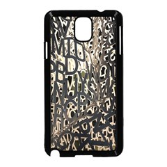Wallpaper Texture Pattern Design Ornate Abstract Samsung Galaxy Note 3 Neo Hardshell Case (black)