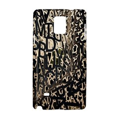 Wallpaper Texture Pattern Design Ornate Abstract Samsung Galaxy Note 4 Hardshell Case by Simbadda