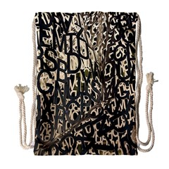 Wallpaper Texture Pattern Design Ornate Abstract Drawstring Bag (large) by Simbadda