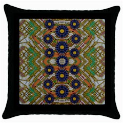 Fleur Flower Porcelaine In Calm Throw Pillow Case (black) by pepitasart