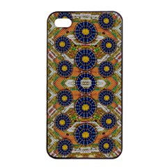 Fleur Flower Porcelaine In Calm Apple Iphone 4/4s Seamless Case (black) by pepitasart