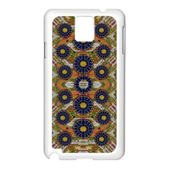 Fleur Flower Porcelaine In Calm Samsung Galaxy Note 3 N9005 Case (white) by pepitasart