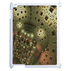 Geometric Fractal Cuboid Menger Sponge Geometry Apple Ipad 2 Case (white) by Simbadda
