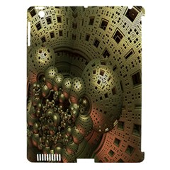 Geometric Fractal Cuboid Menger Sponge Geometry Apple Ipad 3/4 Hardshell Case (compatible With Smart Cover) by Simbadda