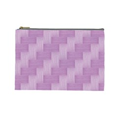 Purple Pattern Cosmetic Bag (large)  by Valentinaart