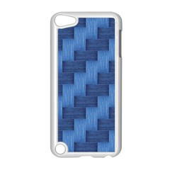 Blue Pattern Apple Ipod Touch 5 Case (white) by Valentinaart