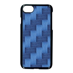 Blue Pattern Apple Iphone 7 Seamless Case (black) by Valentinaart