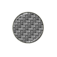 Gray Pattern Hat Clip Ball Marker (4 Pack) by Valentinaart