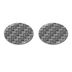 Gray Pattern Cufflinks (oval) by Valentinaart