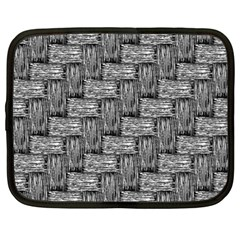 Gray Pattern Netbook Case (large) by Valentinaart
