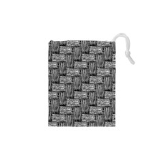 Gray Pattern Drawstring Pouches (xs)  by Valentinaart