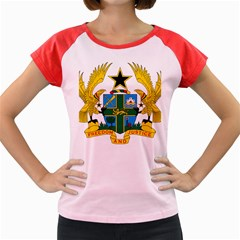 Coat Of Arms Of Ghana Women s Cap Sleeve T Shirt by abbeyz71