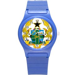 Coat Of Arms Of Ghana Round Plastic Sport Watch (s) by abbeyz71