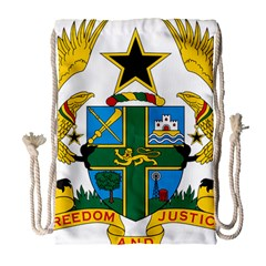 Coat Of Arms Of Ghana Drawstring Bag (large) by abbeyz71