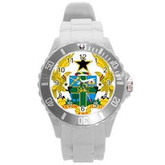 Coat Of Arms Of Ghana Round Plastic Sport Watch (l) by abbeyz71