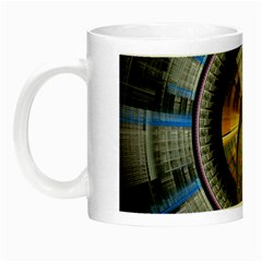 Fractal Tech Disc Background Night Luminous Mugs by Simbadda