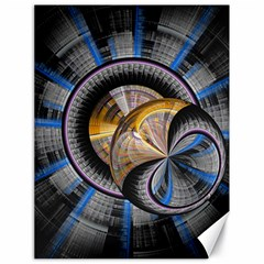 Fractal Tech Disc Background Canvas 18  X 24   by Simbadda