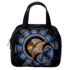 Fractal Tech Disc Background Classic Handbags (one Side) by Simbadda