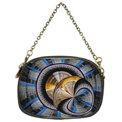 Fractal Tech Disc Background Chain Purses (one Side)  by Simbadda