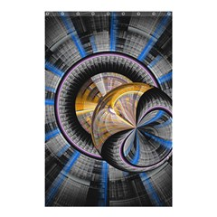 Fractal Tech Disc Background Shower Curtain 48  X 72  (small)  by Simbadda