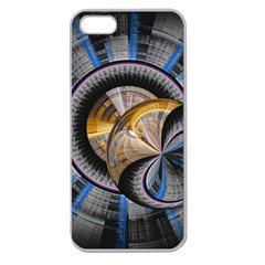 Fractal Tech Disc Background Apple Seamless Iphone 5 Case (clear) by Simbadda