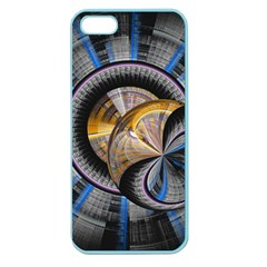 Fractal Tech Disc Background Apple Seamless Iphone 5 Case (color)