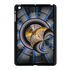 Fractal Tech Disc Background Apple Ipad Mini Case (black) by Simbadda