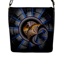Fractal Tech Disc Background Flap Messenger Bag (l)  by Simbadda