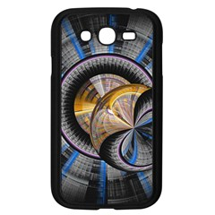 Fractal Tech Disc Background Samsung Galaxy Grand Duos I9082 Case (black) by Simbadda