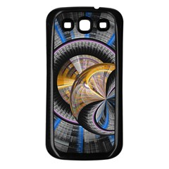Fractal Tech Disc Background Samsung Galaxy S3 Back Case (black) by Simbadda