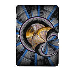 Fractal Tech Disc Background Samsung Galaxy Tab 2 (10 1 ) P5100 Hardshell Case  by Simbadda