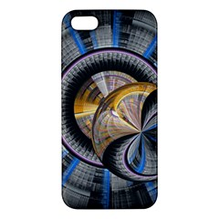 Fractal Tech Disc Background Iphone 5s/ Se Premium Hardshell Case by Simbadda