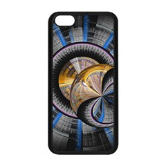 Fractal Tech Disc Background Apple Iphone 5c Seamless Case (black) by Simbadda