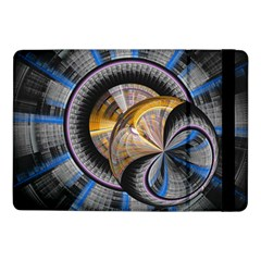 Fractal Tech Disc Background Samsung Galaxy Tab Pro 10 1  Flip Case by Simbadda