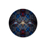 Fancy Fractal Pattern Rubber Round Coaster (4 pack)  Front