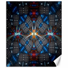 Fancy Fractal Pattern Canvas 20  X 24   by Simbadda