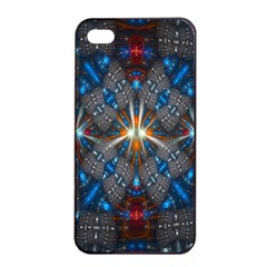Fancy Fractal Pattern Apple Iphone 4/4s Seamless Case (black) by Simbadda