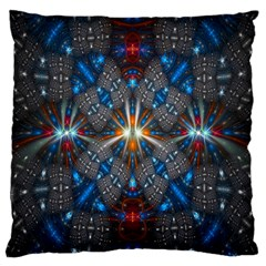 Fancy Fractal Pattern Large Cushion Case (one Side) by Simbadda