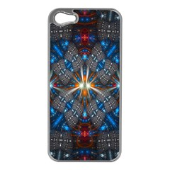 Fancy Fractal Pattern Apple Iphone 5 Case (silver) by Simbadda