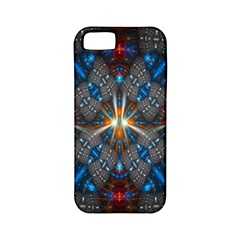Fancy Fractal Pattern Apple Iphone 5 Classic Hardshell Case (pc+silicone) by Simbadda
