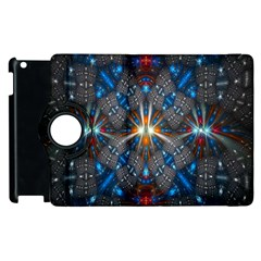 Fancy Fractal Pattern Apple Ipad 3/4 Flip 360 Case by Simbadda