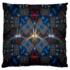 Fancy Fractal Pattern Standard Flano Cushion Case (one Side) by Simbadda