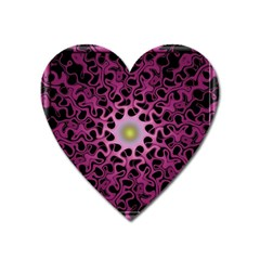 Cool Fractal Heart Magnet by Simbadda